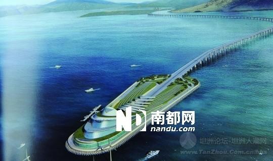 起点是香港大屿山,经大澳,跨越珠江口,最后分成y字形,一端连接珠海,一