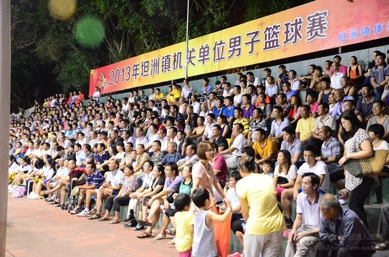坦洲篮球比赛观众多