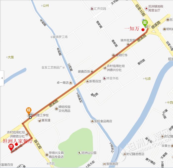 中山坦洲镇地图