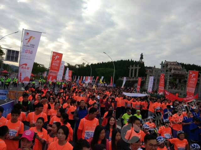 震撼 中山国际马拉松第一现场图片