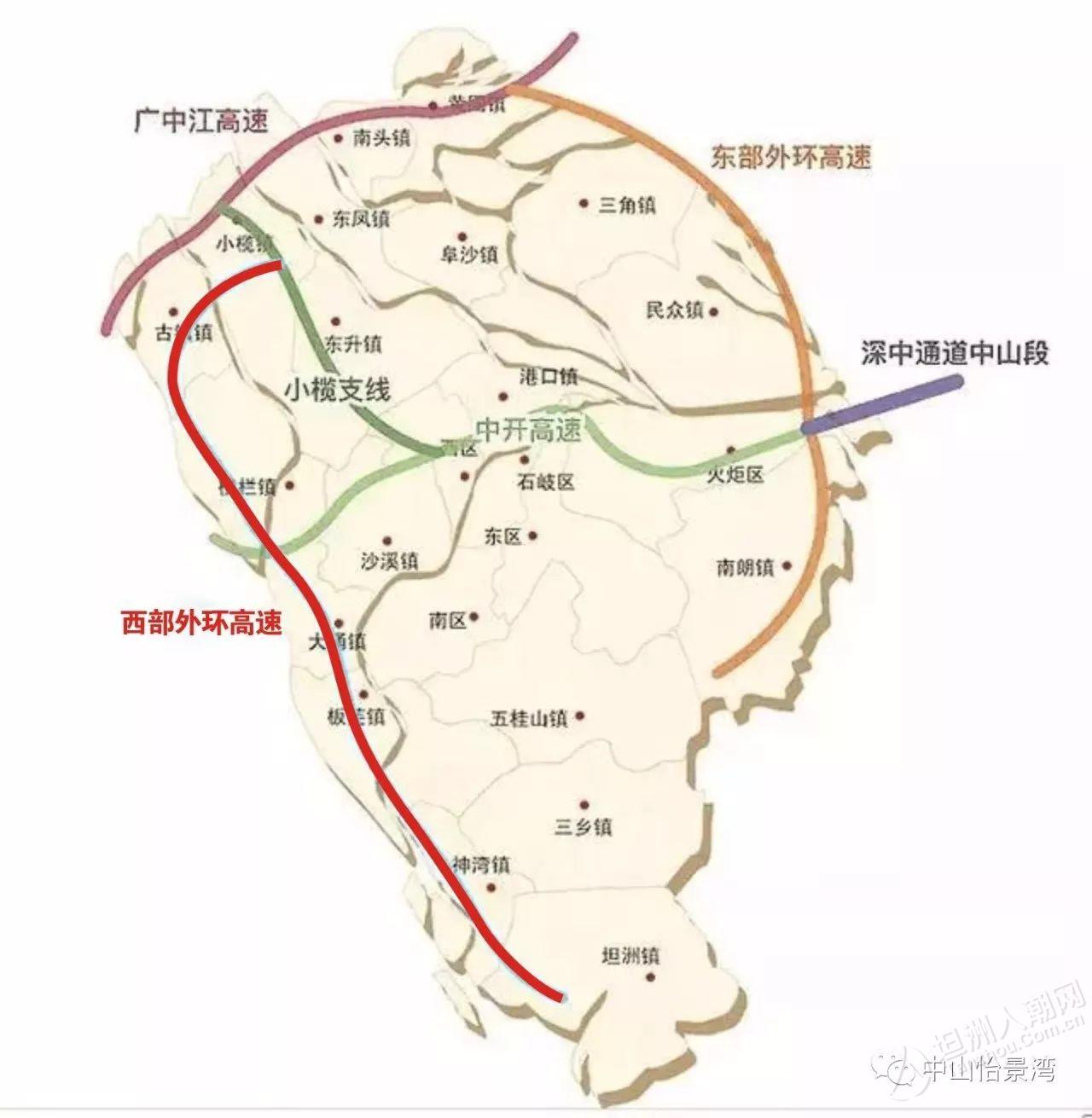坦洲地图高清全图