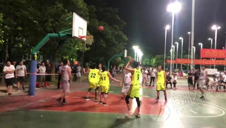 2019年中山市镇区男子篮球联赛坦洲获得首场胜利