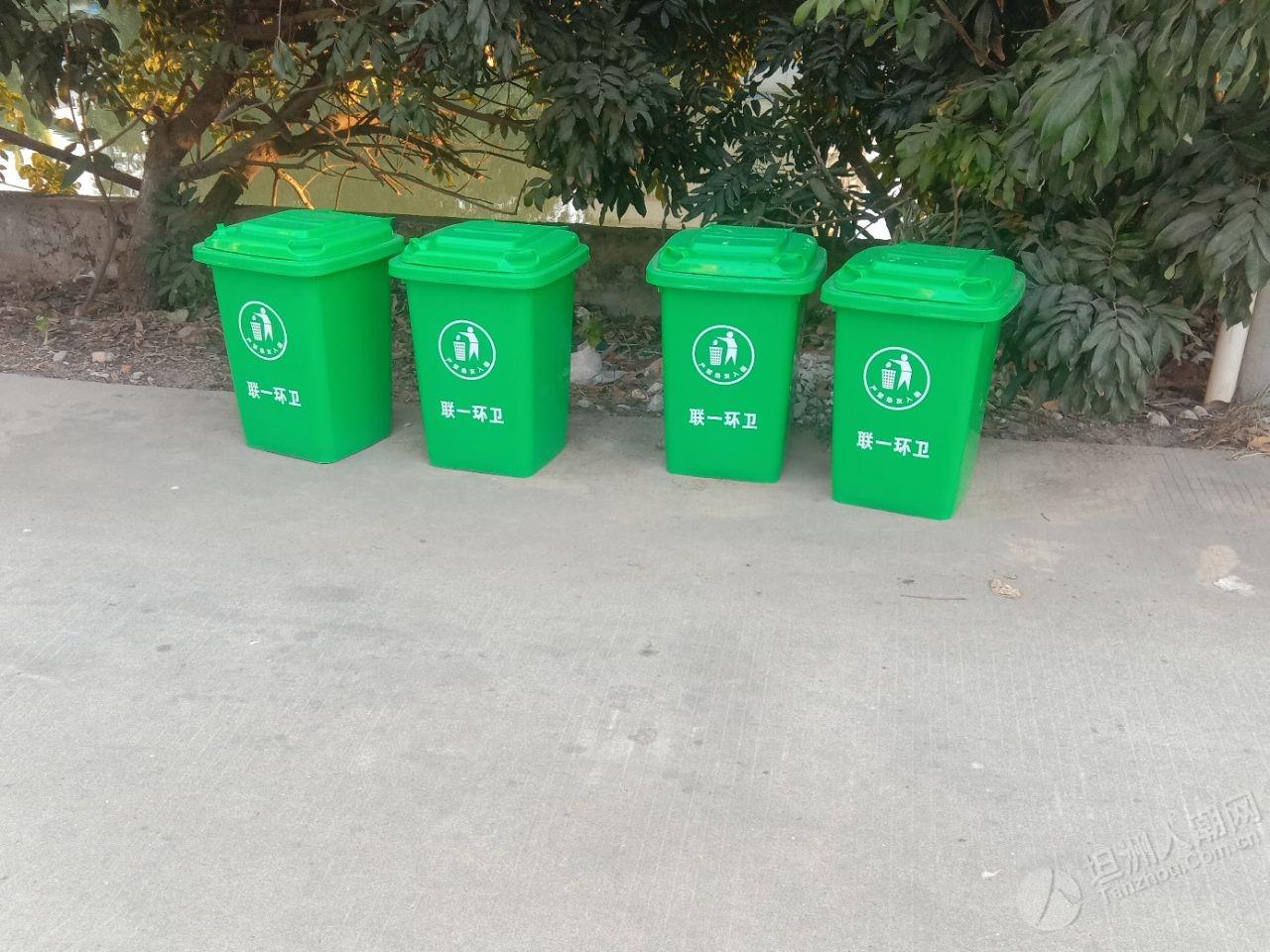 联一村的垃圾桶全换新的了!颜值杠杠的,你们村的有换吗?