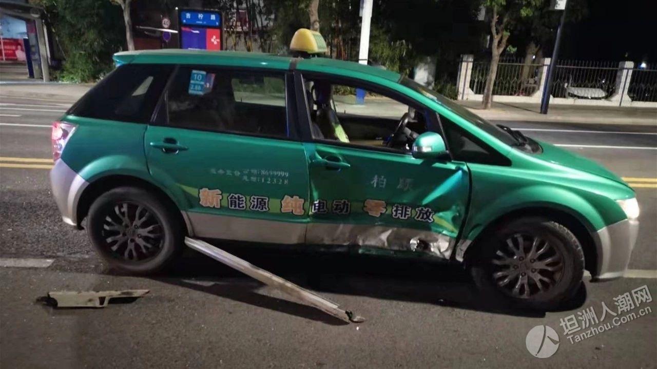 坦洲吃宵夜回家龟速行驶惹众怒!司机撞了车还想打人?