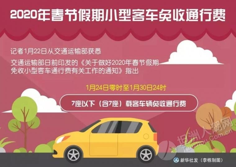 @坦洲车主:明天零时起,免收小型客车通行费!