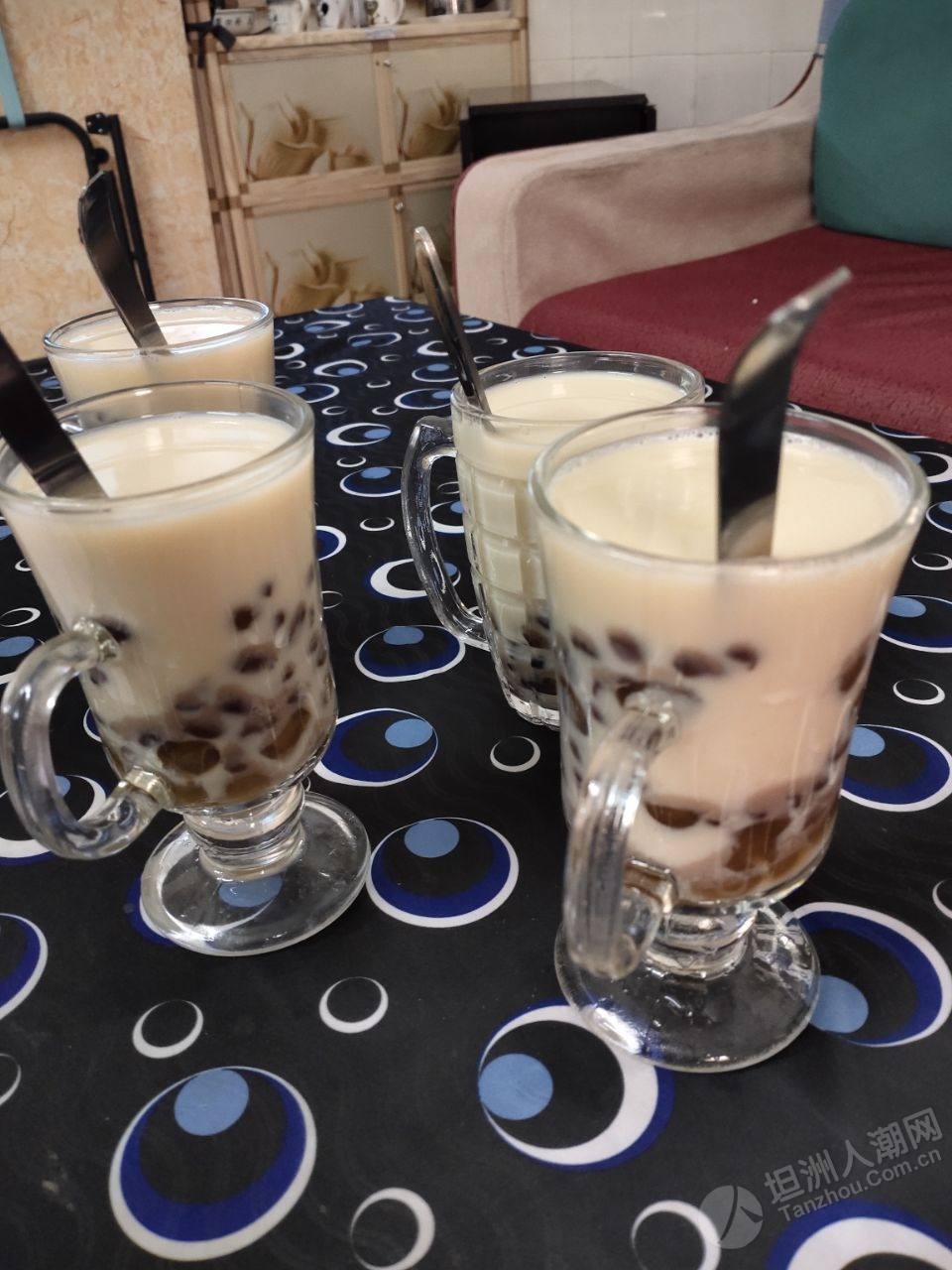 自制红豆珍珠奶茶