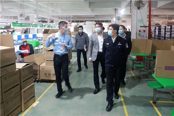 郑泽晖到坦洲调研企业复工复产和疫情防控工作
