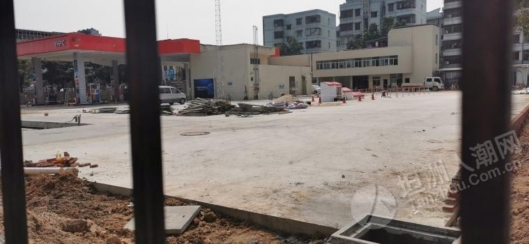 坦洲壹加壹旁边的加油站工程正在收尾