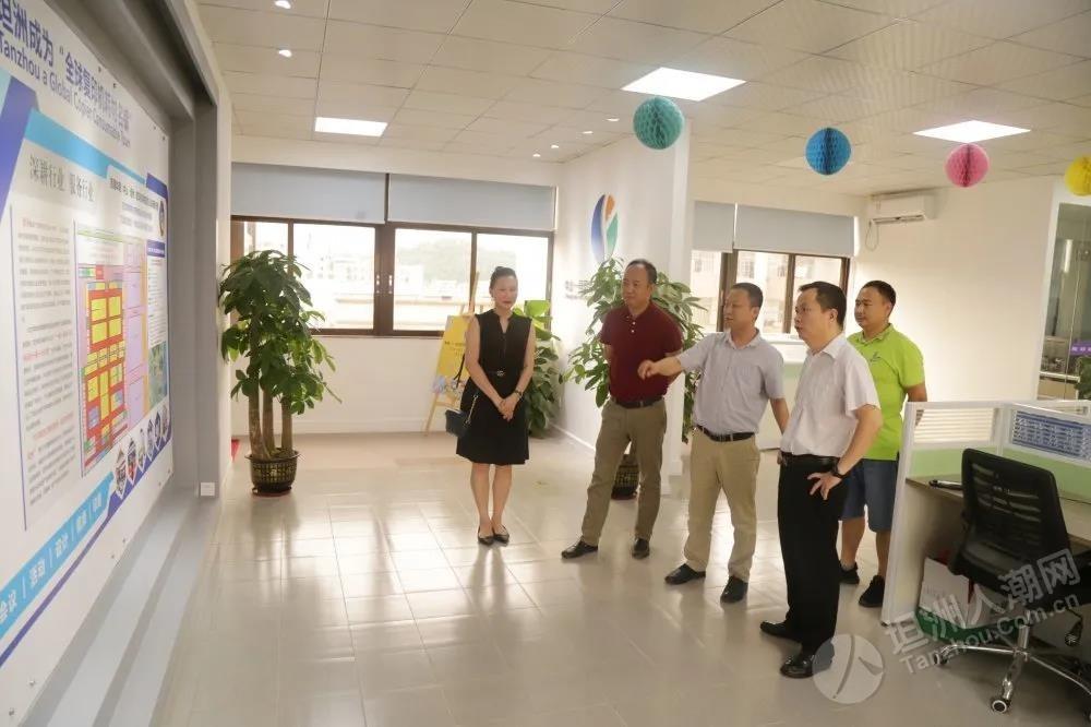 坦洲市场监管分局局长到中山一号印会展公司参观指导