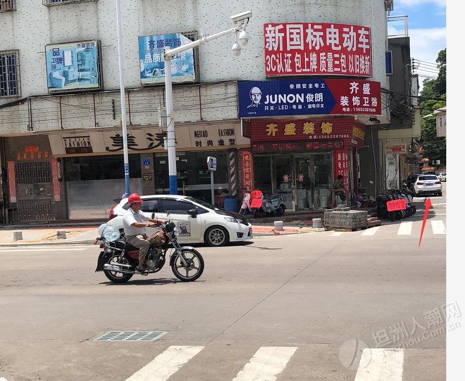 一个唔好彩,又有人系坦洲山附近吃罚单,今次不是无戴头盔...