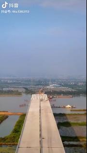 香海大桥斗门段桥梁架构已基本完工,但坦洲段...