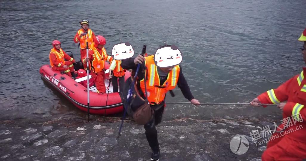 出动无人机、橡皮艇!中山一夫妻爬山被困 消防紧急营救