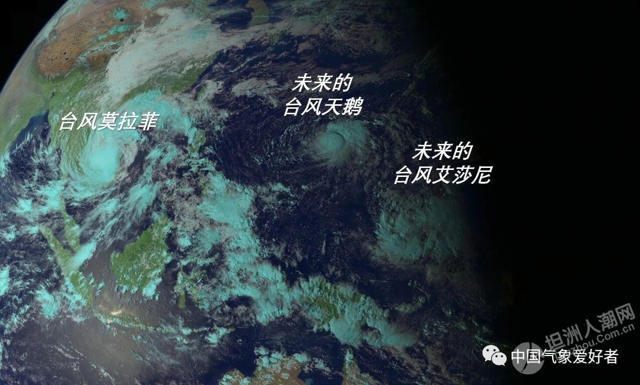 """危险台风CP预警:19号""""天鹅""""生成,20号台风酝酿中!或又进入南海"""