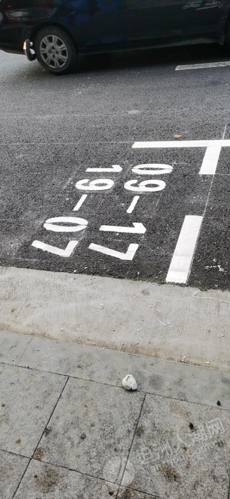 坦洲开始有车位划编号了,估计路边车位收费不远了
