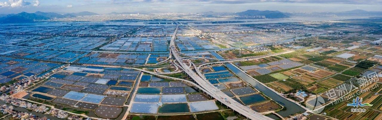 香海大桥首段完工,通车在望!坦洲段情况如何?