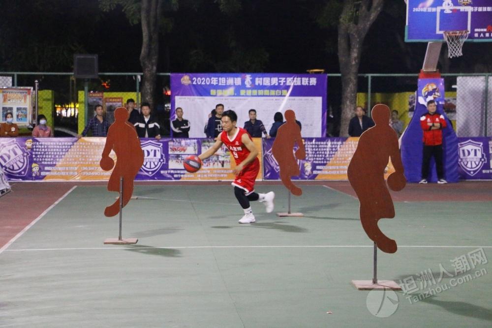 """3个三分波开场点燃全场!坦洲镇村居男子篮球联赛""""全明星赛""""太燃了!"""