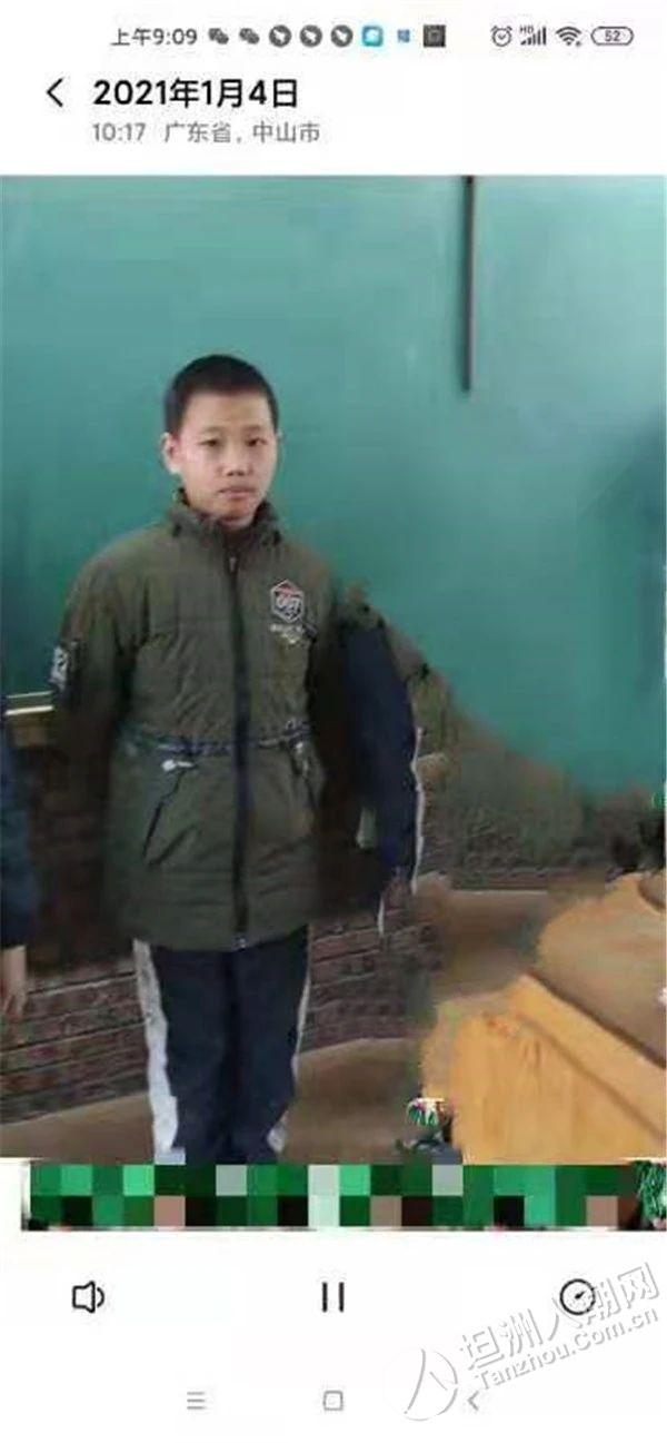 【寻人启事】东升12岁男孩离家后失联已4天,坦洲街坊帮忙留意下