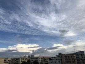 你看,坦洲上空大片大片的云