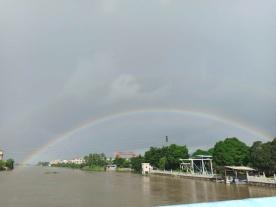 坦洲今朝又见彩虹