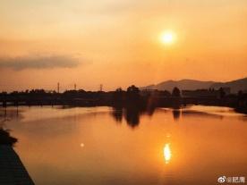 美吗?坦洲永一水闸与夕阳
