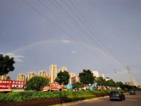 快抬头看!坦洲出现彩虹!好美