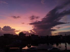 真美!坦洲凌晨五点的天空